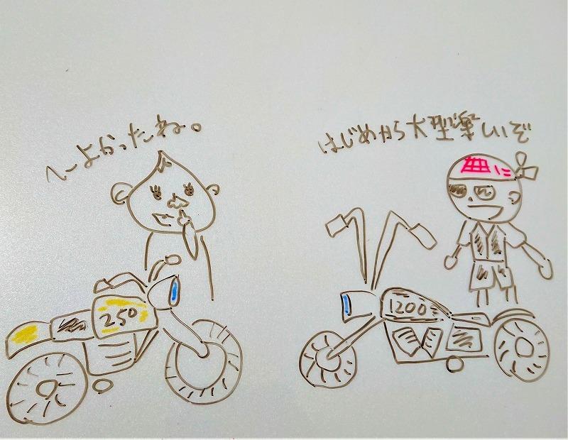 典型的な大型バイク乗り