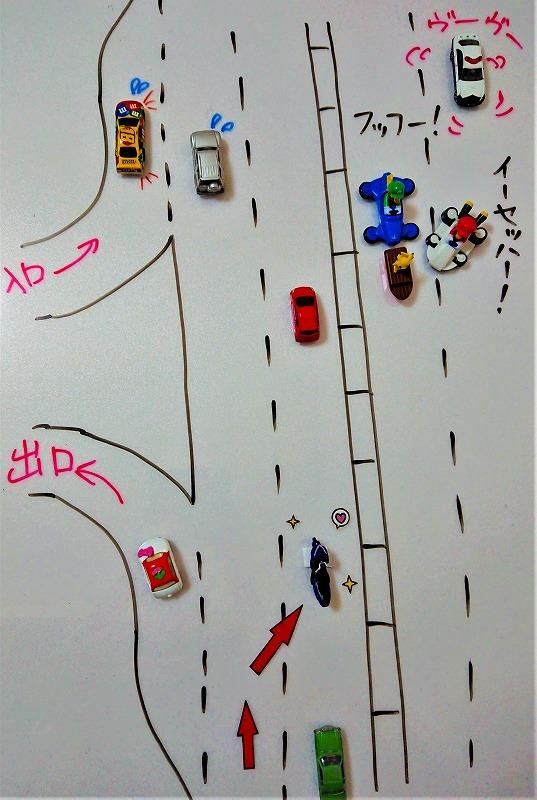 高速道路で合流されるときの例