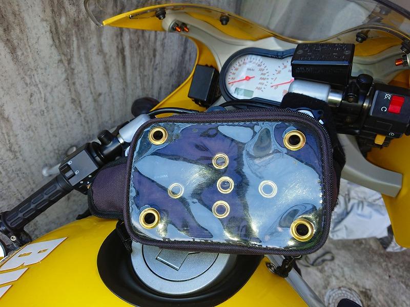 バイクに取り付けた写真