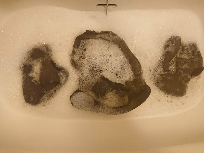内装を手洗い