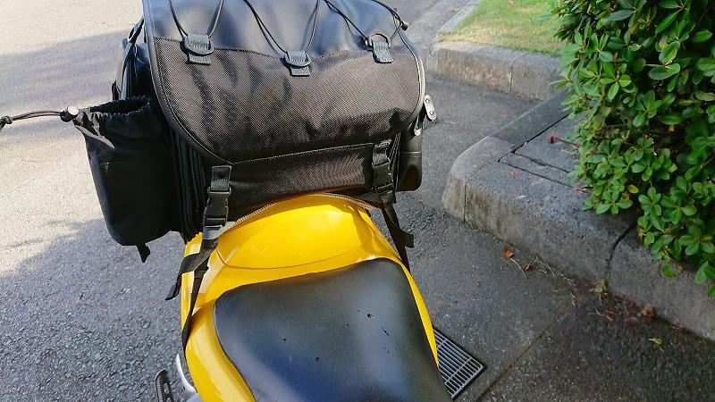 シートバッグの取り付けのバランス