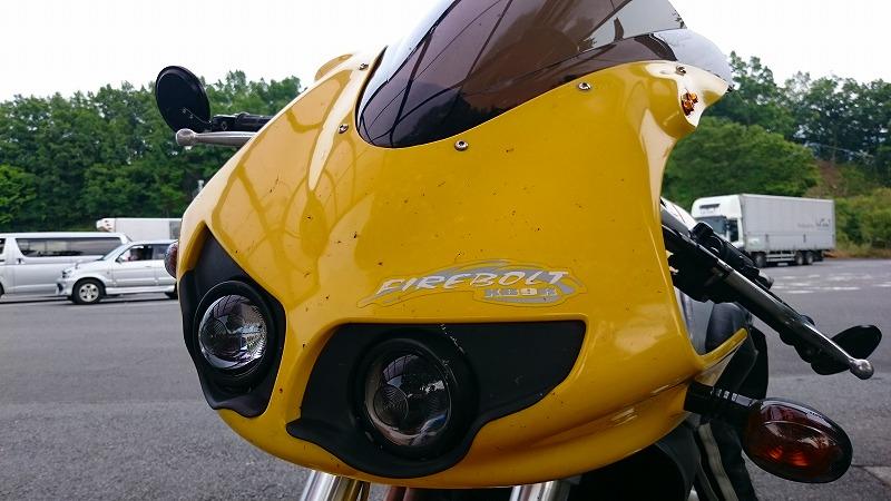 空力性能が低いバイク