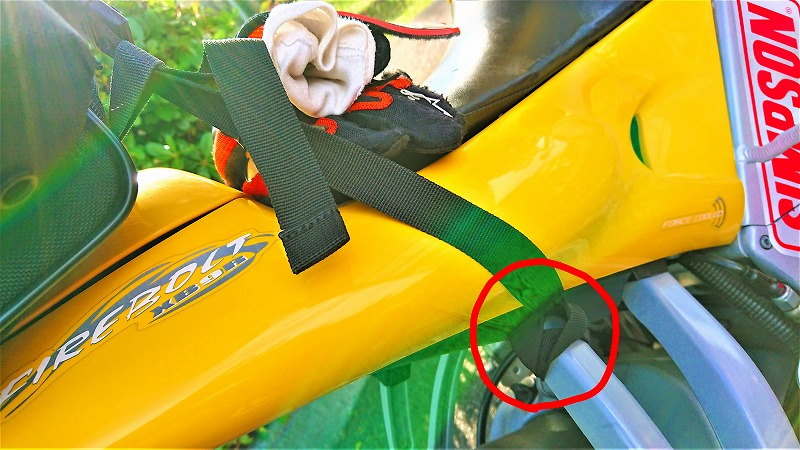 シートバッグの取り付け方法