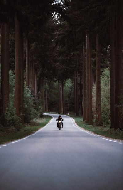 ソロツーリングするバイク乗り