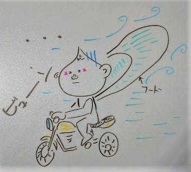 フードがあるバイクジャケット