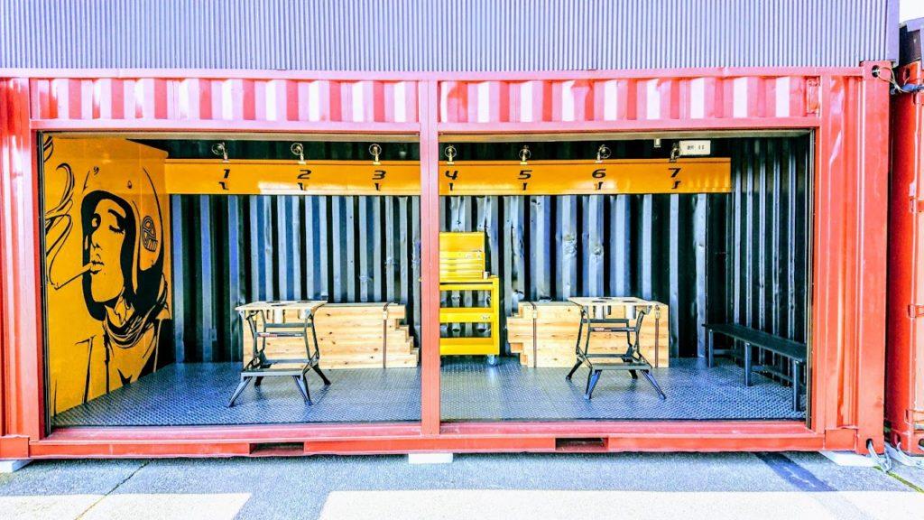 バイカーズパラダイスの喫煙所